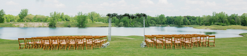 Wedding Homepage - Outdoor Ceremony
